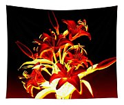Luminous Lilies Tapestry