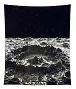Lunar Crater, 1874.  Tapestry by Granger