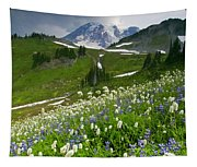 Lupine Storm Tapestry