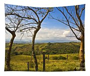 Lush Land Leafless Trees I Tapestry