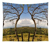 Lush Land Leafless Trees IIi Tapestry