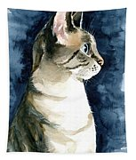 Lynx Point Cat Portrait Tapestry