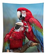 Macaw Love Tapestry