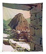 Machu Picchu Vista- Peru Tapestry