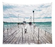 Mackinac Island Michigan Shuttle Pier Pa 02 Tapestry