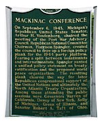 Mackinaw Conference Signage Mackinac Island Michigan Vertical Tapestry