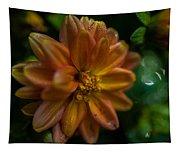 Macro Of Dahlia Flower Tapestry