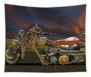 Mad Max Creater Motorcycle Tapestry