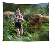 Made In China Soccer Player Tapestry
