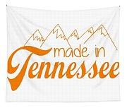 Made In Tennessee Orange Tapestry
