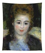 Mademoiselle Henriot Or Young Girl With A Blue Ribbon Tapestry