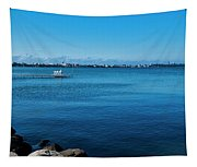 Madison Across Lake Mendota Tapestry