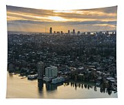 Madison Park And The Seattle Skyline Tapestry