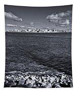 Madison Skyline - Black And White Tapestry