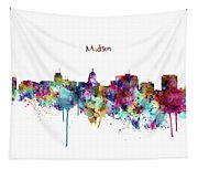 Madison Skyline Silhouette Tapestry
