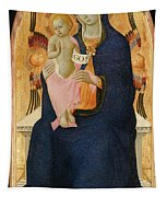 Madonna And Child Enthroned With Two Cherubim                                Tapestry