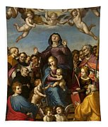 Madonna And Child With Saint Anne And The Patron Saints Of Florence Tapestry