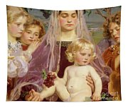 Madonna Of Giverny, 1901 Detail Tapestry