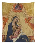 Madonna Of Humility The Blessing Christ Two Angels And A Donor Tapestry