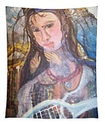 Madonna Of The Racket Tapestry