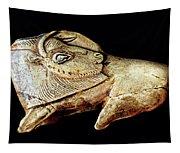 Magdalenian Carved Bison  Tapestry
