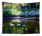 Magical Beauty At The Azalea Pond Tapestry