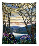 Magnolias And Irises Tapestry