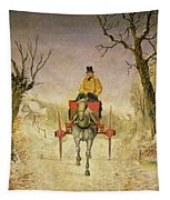 Mail Cart Christmas Tapestry