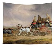 Mail Coaches On The Road - The Louth-london Royal Mail Progressing At Speed Tapestry