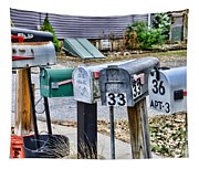 Mailboxes Tapestry