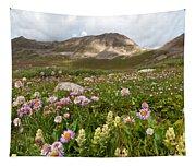 Majestic Colorado Alpine Meadow Tapestry