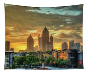 Majestic Gold Midtown Atlantic-station Atlanta Sunrise Art Tapestry