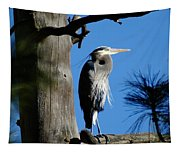 Majestic Great Blue Heron Tapestry