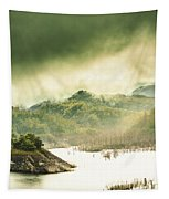 Majestic Morning Lake Tapestry