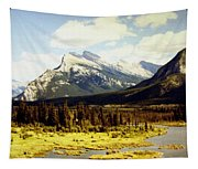 Majestic Mount Rundle Tapestry