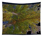 Majestic Trees Abstract Poster 2 Tapestry