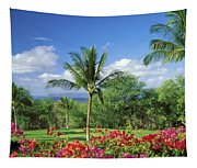 Makena Beach Golf Course Tapestry