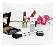 Makeup Brush And Cosmetics Tapestry