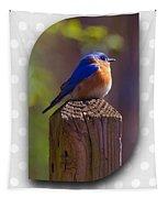 Male Bluebird Tapestry