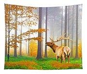 Male Elk Bugling Tapestry