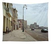 Malecon En Havana Tapestry