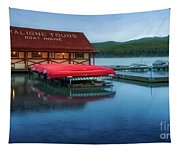 Maligne Tours Boat House Tapestry