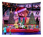 Mall Santa With Child Tapestry