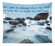 Mama, You've Always Been My Rock - Mother's Day Card Tapestry