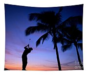 Man Swinging Driver Tapestry