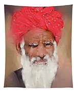 Man With Red Headwrap Tapestry