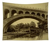 Manayunk Canal In Sepia Tapestry