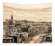 Manayunk In March - Canal View In Sepia Tapestry