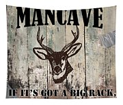 Mancave Deer Rack Tapestry