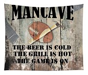 Mancave Football Tapestry
